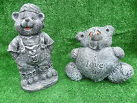 £8 each garden ornaments buddha's/monkey/boxer puppies/dog welcome/bears