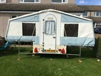 1993 Dandy Delta Trailer Tent 4 berth with AWNING
