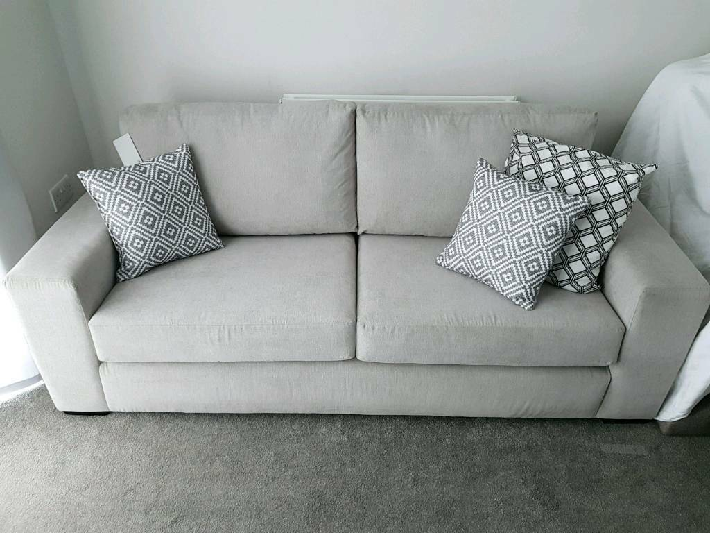 Awesome Sofa Three Seater In Light Grey Couch Living Room Furniture Rrp 599 In Tadcaster North Yorkshire Gumtree Alphanode Cool Chair Designs And Ideas Alphanodeonline