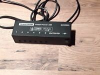 Power distribution supply for guitar effects pedals.