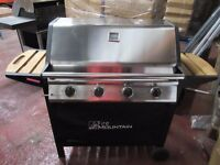 Elbrus 4 Burner Gas Barbecue in black and wood ex-display...like new £150 with regulator! bargain