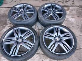 """Genuine 22"""" Overfinch Alloy Wheels & Tyres for Range Rover L322"""