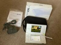 Boxed White DS, new Blue or Pink case with optional games