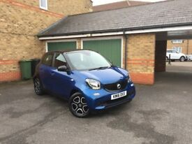 Ideal First car for young driver. Smart 4/4. 1.0 Prime. 5dr. March 2016 Reg. 18,500 Miles. 2 owners.