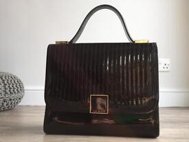 Bag - Black patent genuine Ted Baker bag