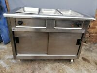 Hot Cupboard (bottom) and Bain Marie (top) Lincat with three trays