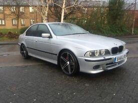 BMW 530d M SPORT AUTO .. 2002 .. F/S/H .. SAT-NAV .. XENON LIGHTS ..LEATHER SEATS .. MEGA SPEC .