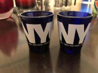 2 NY shot glasses