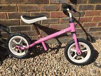 Kettler balance bike in pink