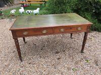 Leather topped Edwardian desk ....