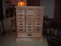 Card Index Set of Drawers