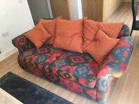 2 seater colourful sofa / settee quirky