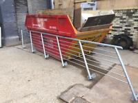 Galvanised steel staircase