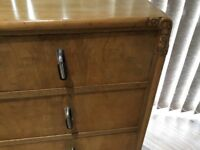 1930's Art Deco Walnut Chest of Drawers