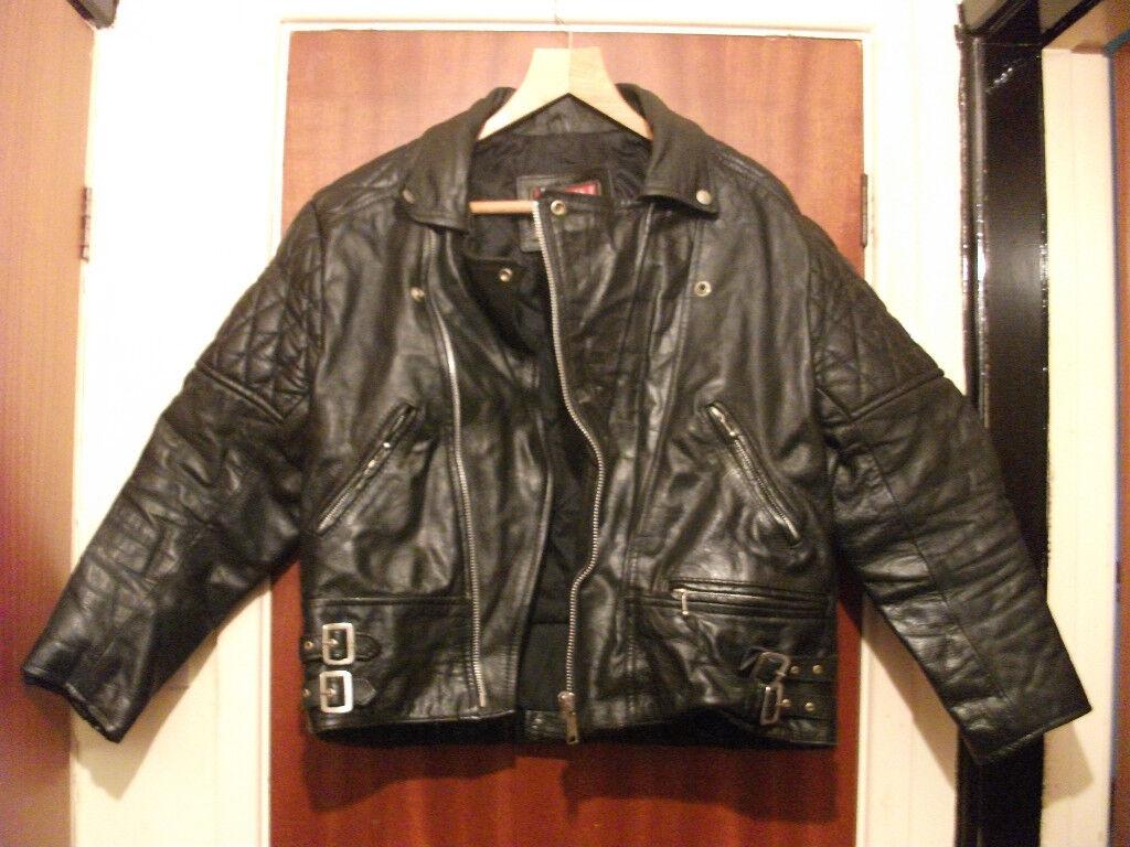 motorbike leathers, jacket & trousers