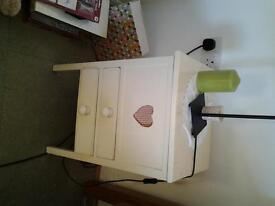 bedside table / sewing box