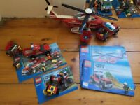 Lego City Fire Helicopter, Off-Road Fire Rescue set and Fire ATV