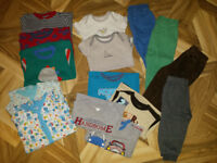 Baby boy clothes in sizes 9/12/18/24 months