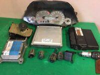 Ford Focus 1.6 petrol 2004 ecu clocks and locks set