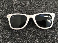 Genuine White Rayban Wayfarer Sunglasses