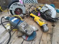 Job Lot Of Power Tools (Pre-owned , Spare or Repairs)