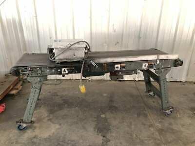 Hytrol Powered Flat Belt Conveyor 72 X 20 12hp 120208v 3ph 32 Height