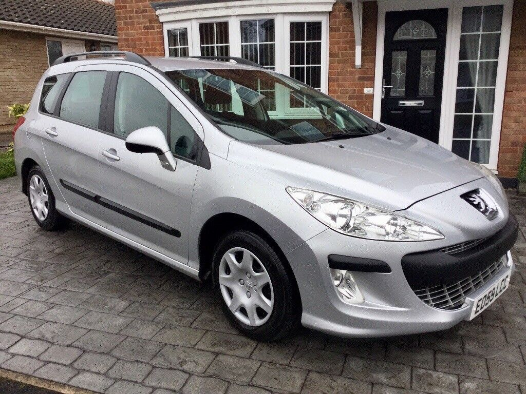 2009 peugeot 308 s sw 1 6 hdi diesel estate manual silver only 80 000 miles in skellow. Black Bedroom Furniture Sets. Home Design Ideas