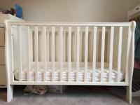 Mamas and Papas cot, mattress, fitted sheets & blankets