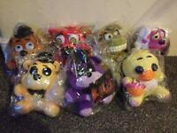 7x Five Nights At Freddy's Plush Toys