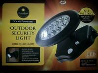 Solar outdoor security light