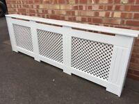 Large radiator cover cabinet - 2m / 2 metre white