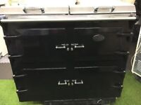 Stunning Everhot 110i Range cooker Black and chrome Ever hot appliance oven
