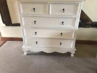 Brand new shabby chic 5 drawer chest