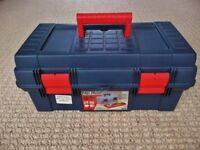16 inch Art Craft Hobby DIY Tool Sewing Fishing Storage Box with Inner Lift out Tray