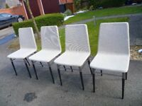 Set of 4 Ikea Preben chairs, grey upholstered, currently retail at £80 each,vgc