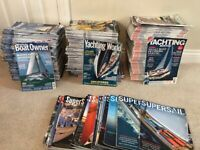 Sailing Magazines approx 240, Yachting World, Yachting Monthly, Practical Boat Owner & Supersail for sale  Ferndown, Dorset