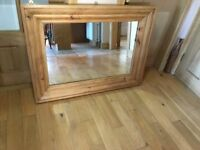 large mirror immaculate BELFAST NEWCASTLE can meet/deliver oak finish mantle livingroom pine hall