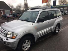 MITSUBISHI SHOGUN DID 3.2 EQUIPPE LWB 7 SEATER.NEW HEAD GASKET & TIMING CHAIN.PX/SWAPS