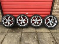 BMW M135i M235i Alloy Wheels With Winter Tyres