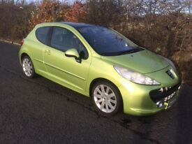 2006 56 PEUGEOT 207 GT 1.6 TURBO 150 BHP LOW MILES