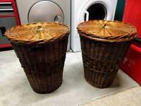 Two Wicker basket baskets