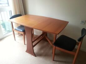 Gate leg dining table incl 2 chairs