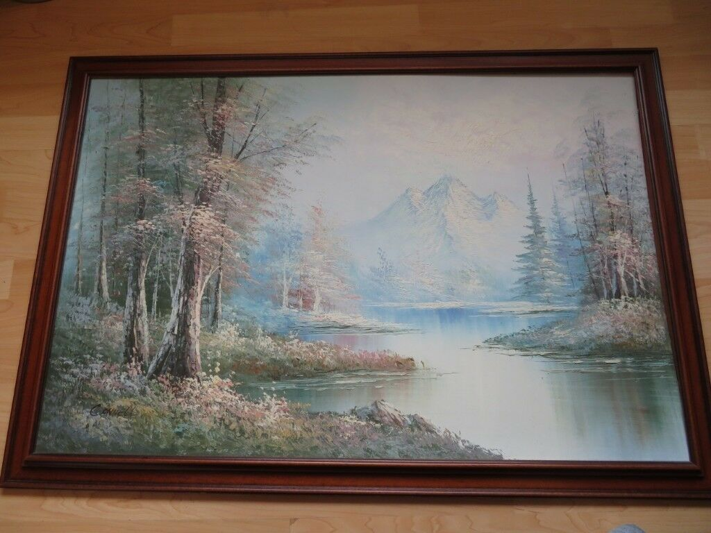 3e994d9c1d6b Lake and mountain view painting by Connell