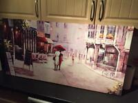 One large Ikea canvas and a glitter medium size one