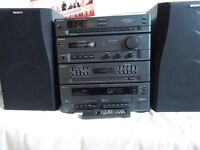 Sony hifi system with speakers