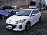 MAZDA 3 VENTURE EDITION 2013 26000 MILES 5 DOOR 5 SPEED MANUAL PETROL MET WHITE