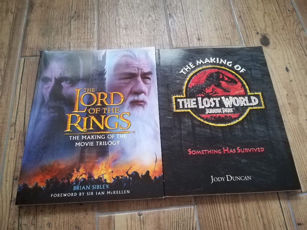 Making of Jurassic Park: Lost World and Lord of the Rings Trilogy Books