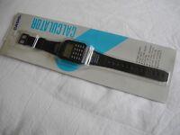 Vintage CASIO CA-55-1 Calculator Watch Water Resist
