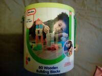 Little Tikes 80 wooden building blocks
