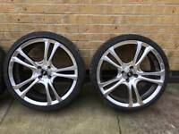 "Alloys 18"" set of 4 with tyres quick sale !!"